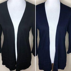 2 New York & Company Cardigans Black & Navy Medium